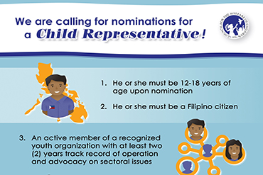 Call for Nominations for Child Representative